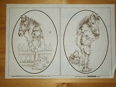 """Vintage Hobbytex """"Country Cousins"""" Pictures"""