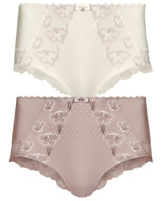 M&S Floral Embroidered High Rise Shorts Briefs
