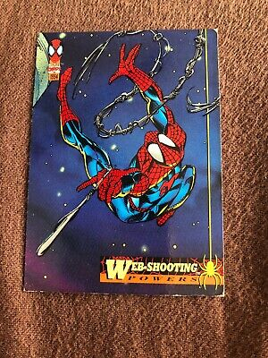 Spider-Man Fleer Marvel Card #2 Web-shooting Powers
