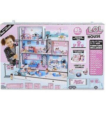 LOL Surprise Doll House With 85+ Surprises Wooden Multi Story Colorful - NEW