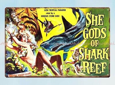 1958 SHE GODS OF SHARK REEF VINTAGE MOVIE POSTER PRINT STYLE A 36x24 9MIL PAPER