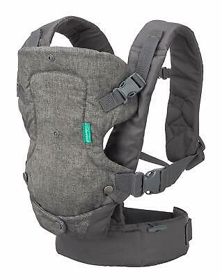 Infantino Flip 4-in-1 Convertible Carrier, Grey with multiple carrying options