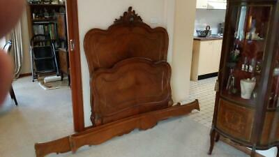 ANTIQUE FRENCH LOUIS XV WALNUT SINGLE BED - Circa 1890