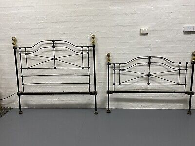 Antique Wrought Iron Cast Iron Double Bed