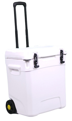 45L Ice Box Cooler for Outdoor Camping and BBQ - With Wheels
