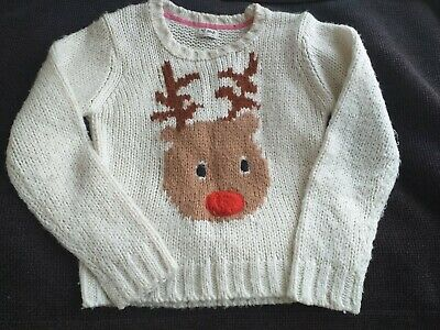 Girls Next Rudolph Christmas Jumper Age 9-10 Yrs