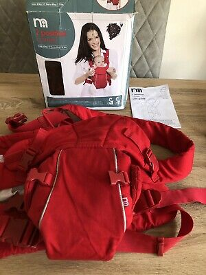 Mothercare 2 Postition Baby Carrier -red  3.5kg-10kg
