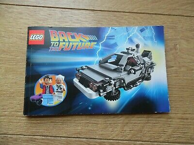 Lego 21103 Back to the Future Delorean building Instructions only