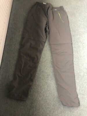 Regatta Outdoors Size 12 Trousers Zip Off To Become Shorts Very Light Matetial