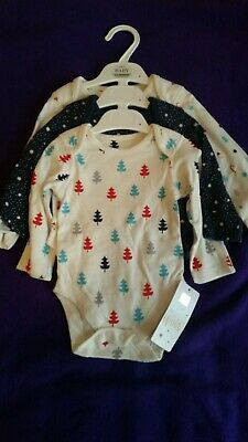 New 0-3 M&S New Christmas Long Sleeved Vests