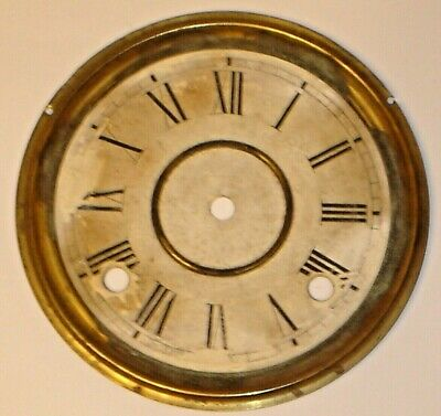 Antique 1880's Wm. L. Gilbert Lake No. 5 Parlor / Kitchen Clock Dial, Original