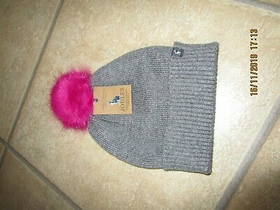 Ladies Womens Snowday Dark Grey Bobble Hat from Joules - One Size New RRP £19.95