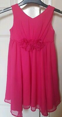 Girls Age 4 Monsoon Pink Party Dress With Corsage Detail Christmas Party
