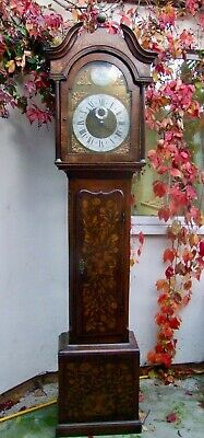 19Th Century Oak Longcase Clock With Marquetry By John Veale, St. Day Of Redruth