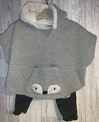 Girls Age 3-6 Months - Next Joggers And Hoodie