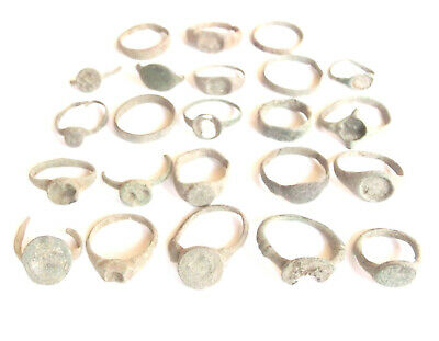 Lot of 22 pieces Low Grade Greek, Roman and Byzantine Bronze rings + 1piece Iron