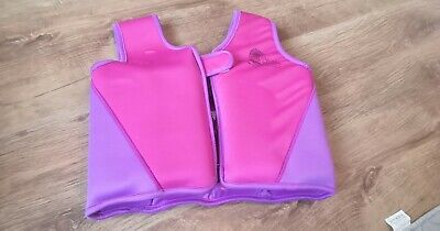 Girls Pink Float Vest Swimming Aid. Age 3-6
