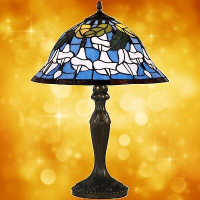 Table Lamp in Tiffany Style Antiques Art Design Bronze Coloured Handmade 4
