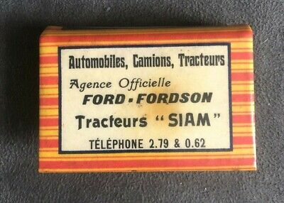 Automobiles Camions Tracteurs Ford Fordson Siam Scam Blida Matchbox Case Holder
