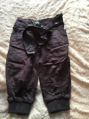 Fat Face Size 10 Years Girls Brown Trousers 3/4 Length Hareem Style