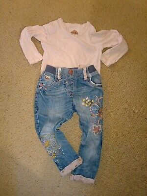 Girls Next Jeans And Top Age 2-3 Years