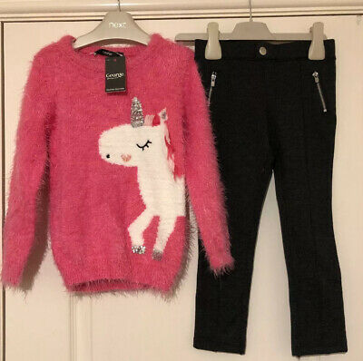 Girls George Jumper And Leggings Outfit 3-4 Years