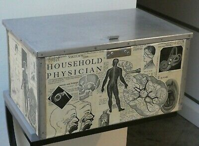 Weird Unusual Medical Anatomy Decorated Wooden Box, Virtue's Household Physician