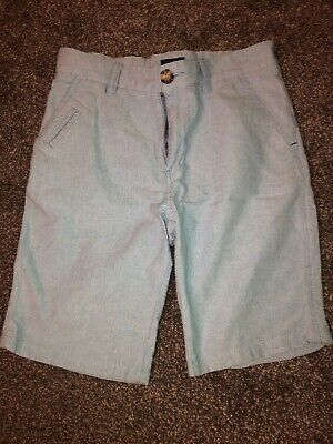 Boys Blue Cotton Chino Shorts Age 12 Years