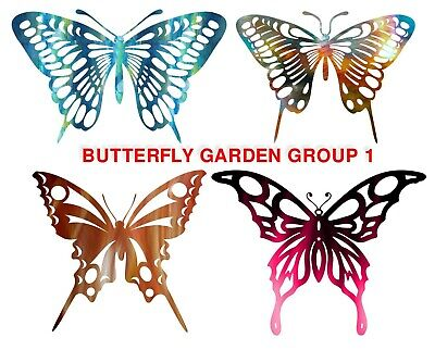 CNC Plasma Laser Cut Ready Vector Butterfly Garden 4 Varieties DXF Stake wall