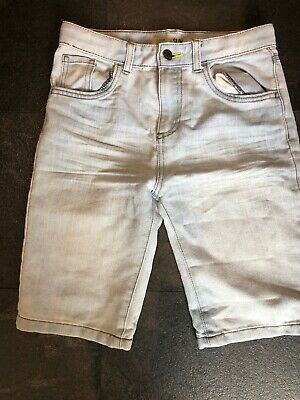 Light Blue Denim Jean Boys Shorts Age 11 - 12 Denim & Co