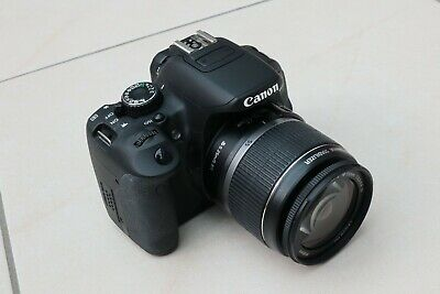 Canon EOS 650D 18.0MP DSLR Camera Kit + EF-S 18-55mm Lens + 2 Batteries