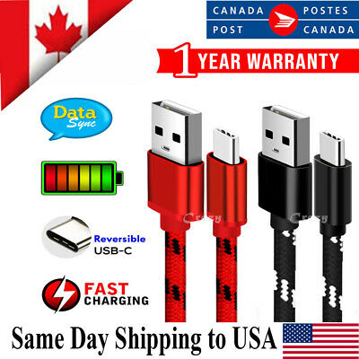 USB Type C Fast Charging Charger Cable Samsung Huawei Oppo Nokia LG Google Moto