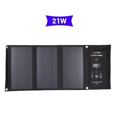 Foldable 21W 5V Solar Charger with Dual USB Port Sun Power Panel for iPhone HTC
