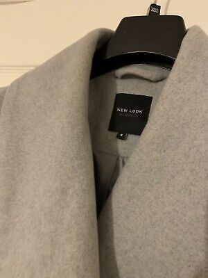 Maternity Wrap Long Length Winter Coat In Grey. Size 8 But Would Fit Size 10
