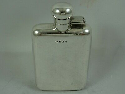 QUALITY, solid  silver HIP FLASK, 1920, 151gm