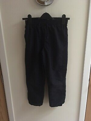 Primark Boys Navy Blue Shell Type Tracksuit Bottoms - 9-10 Excellent Condition