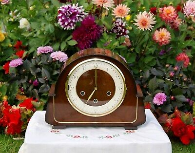 Smiths Antique Art Deco Westminster Chime Mantel Clock, 1958.