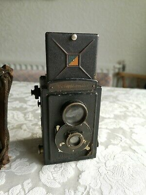 Voigtlander Brilliant Twin Lens Reflex Film Camera Tlr Vintage