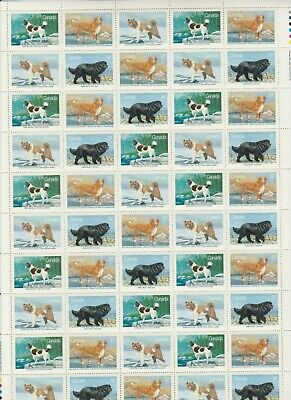 Canada - Rare Mint Sheet Of 50 Stamps - Vfnh - Scott #1217-1220 - Dogs Of Canada