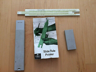 Vintage Slide Ruler, Faber-Castell, With Instructions And Case, Rule, Scale