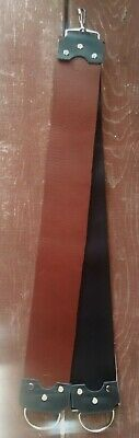 """3"""" veg tanned whiskey + dual choice backing straight razor strop (hand crafted)"""