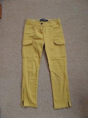 FABULOUS Girl's MINI BODEN Skinny Cargo Trousers Age 7 Mustard Yellow VGC