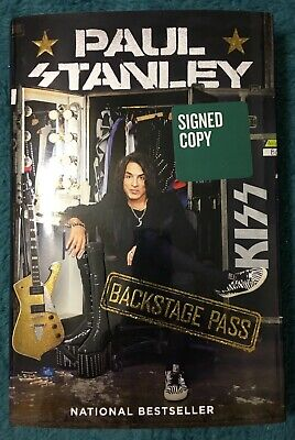 """Paul Stanley of KISS Signed Book:  """" Backstage Pass """" Hardback"""