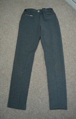 Next girls grey jersey  ponte trousers size 11 years