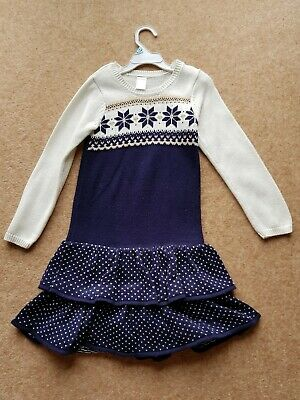 Gymboree Girls Christmas Dress Fairisle Age 7 Bought In Usa Excellent Condition