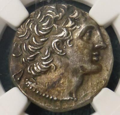 80 BC NGC CHOICE XF Ptolemaic Kingdom Ptolemy IX Silver TetraDrachm Ancient Coin