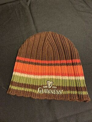 Guinness Beer Beanie Knit Hat Cap Official Merchandise Vintage Style Multi-color
