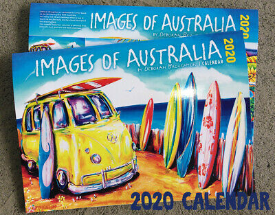 DEBORAH BROUGHTON 2020 Calendar Images of Australia Surf Kombi Local Art by Deb