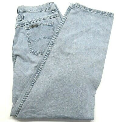 Vintage Riveted by Lee Mens Sz 34 Light Blue Wash Casual Classic Everyday Jeans