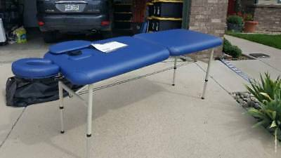 Massage Table 7ft  long with head on/32 high/26.5 wide Blue w/ softside carrier